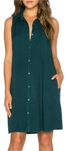 Three Dots short dress Green on Tradesy