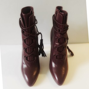 Valentino Tie Up Leather Boots