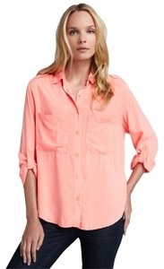 Sami & Lavi Anthropologie Button Down Shirt Serbert Orange