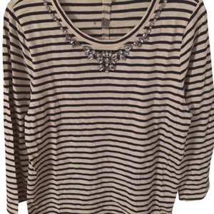 J.Crew T Shirt navy and off white
