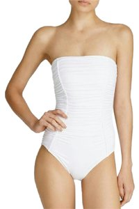 DKNY Ruched Bandeau One Piece