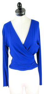 Diane von Furstenberg Silk Top Blue