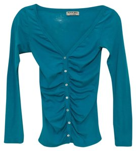 Michael Stars Button Down Shirt Turquoise