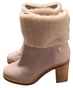 Chanel Grey & white Boots