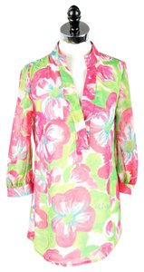 Lilly Pulitzer Floral Top Pink and Green