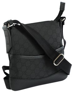 Gucci 374416 Messenger Handbag Black Messenger Bag