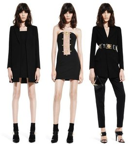 Versace Anthony Vaccarello Sexy Black Low Cut Dress
