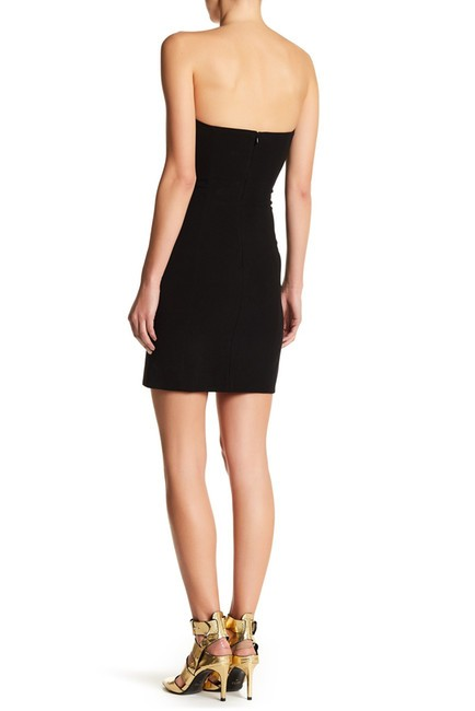 Versace Anthony Vaccarello Sexy Black Low Cut Dress Image 3