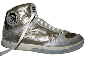 Diesel Deep W Women Hipster Shimmer Silver Metallic Silver Shiny Swag Swagger Glitter Size 6 Leather California 90s 1990 Gold Metallic Athletic