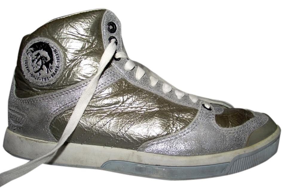 923f8761c Diesel Deep W Women Hipster Shimmer Silver Silver Shiny Swag Swagger  Glitter Size 6 Leather California ...