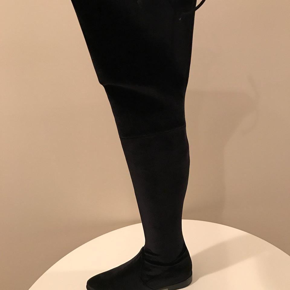 4cd415ed22c Stuart Weitzman Black Leggy Lady Over The Knee Boots Booties Size US ...
