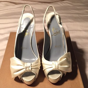 Christian Louboutin Vendome Sling Nodo 120c Wedding Shoes