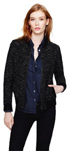 J.Crew Longsleeve Sporty Tweed Bomber Navy Jacket