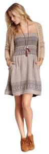 Willow & Clay short dress Brown, gray on Tradesy