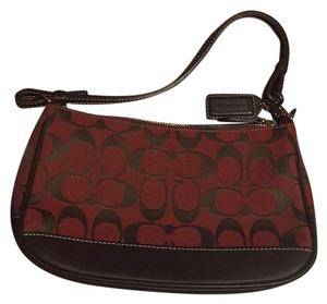 Coach Brown/Red Clutch