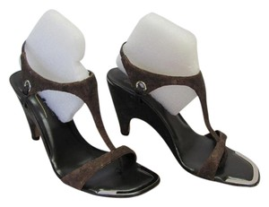 Donald J. Pliner New Size 8.00 M Excellent Condition Brown, Silver Sandals