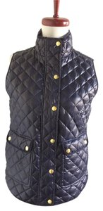 J.Crew Down Quilted Blue Vest