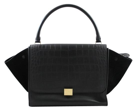 Preload https://item1.tradesy.com/images/celine-trapeze-black-leather-tote-2050495-0-1.jpg?width=440&height=440