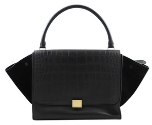Céline Trapeze Tote in Black