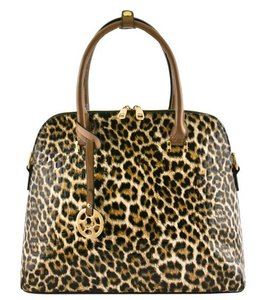 FVO Fashion Source Patent Leather Tote in Leopard