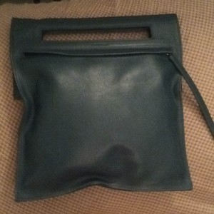 Lancel teal Clutch