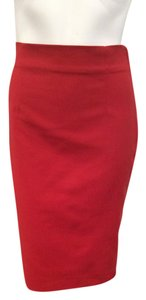 Zara Sexy Classic Pencil Skirt Red