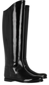 Bottega Veneta Leather Riding Black Boots