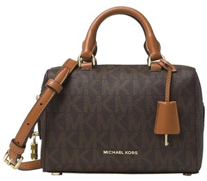 Michael Kors Kirby Signature Pvc Satchel in brown