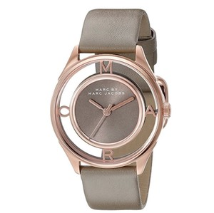 Marc by Marc Jacobs Marc by Marc Jacobs tether rose gold skeleton gray leather watch