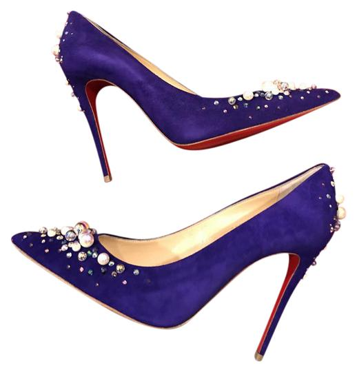 Preload https://img-static.tradesy.com/item/20505105/christian-louboutin-purple-pop-candidate-jewel-crystal-pearl-suede-pumps-size-us-7-0-1-540-540.jpg