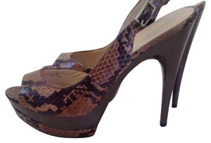 Pelle Moda Brown Black Platforms