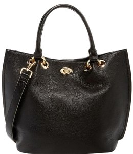 FVO Fashion Source Leather Tote in Black