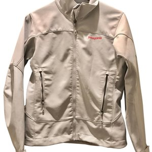 Patagonia white/light gray Jacket
