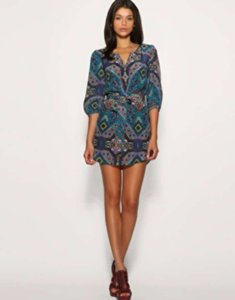 short dress Blue Print on Tradesy