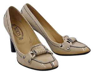 Tod's Tods Womens Nude Patent Beige Pumps