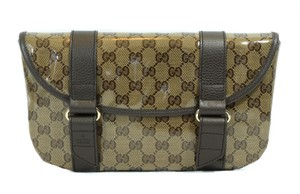 Gucci Belt Fanny Pack Fanny Pack Pocket 374617 Brown Travel Bag