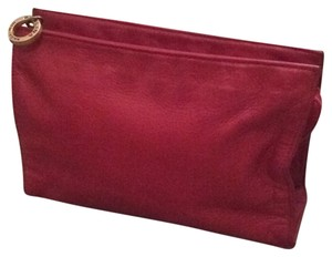 Perlina red Clutch