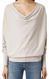 AllSaints Scoop Back Cowl Neck Draped Sweater