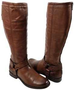 Frye Vintage Leather Iconic Harness Leather Outsole Whiskey Boots