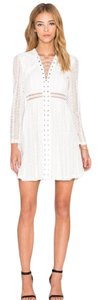 Bardot short dress White on Tradesy