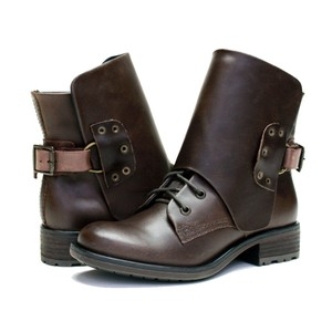 VESTITURE Side Zipper Made In Mexico Vintage Leather Fold Down Panel Double Vamp Panel COCOA Boots