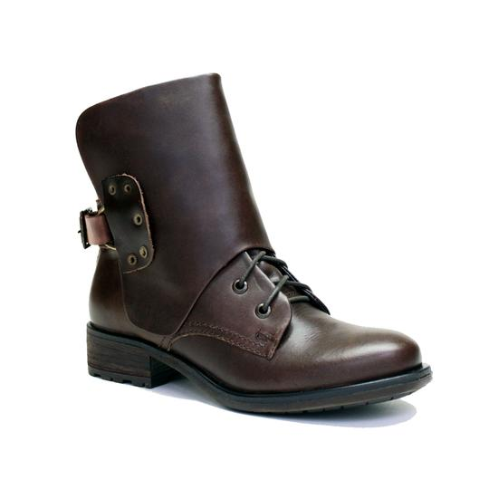 VESTITURE Side Zipper Made In Mexico Vintage Leather Fold Down Panel Double Vamp Panel COCOA Boots Image 1