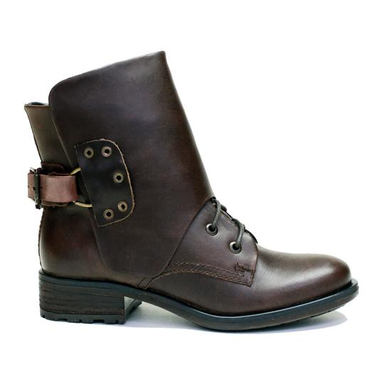 VESTITURE Side Zipper Made In Mexico Vintage Leather Fold Down Panel Double Vamp Panel COCOA Boots Image 2