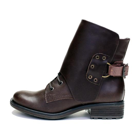 VESTITURE Side Zipper Made In Mexico Vintage Leather Fold Down Panel Double Vamp Panel COCOA Boots Image 3