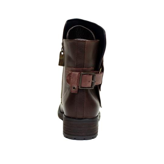 VESTITURE Side Zipper Made In Mexico Vintage Leather Fold Down Panel Double Vamp Panel COCOA Boots Image 4