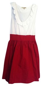 Preload https://item3.tradesy.com/images/whitered-knee-length-short-casual-dress-size-4-s-205057-0-0.jpg?width=400&height=650
