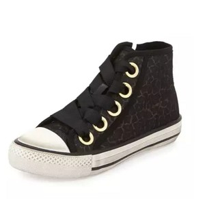 Ash Suede Leather Studded Velcro Black Athletic