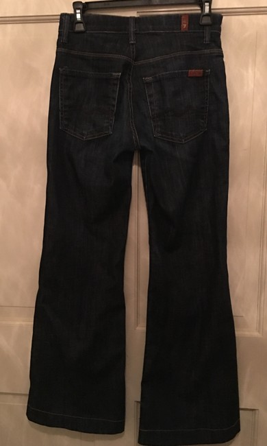 7 For All Mankind Ginger Altered Flare Leg Jeans-Dark Rinse Image 2