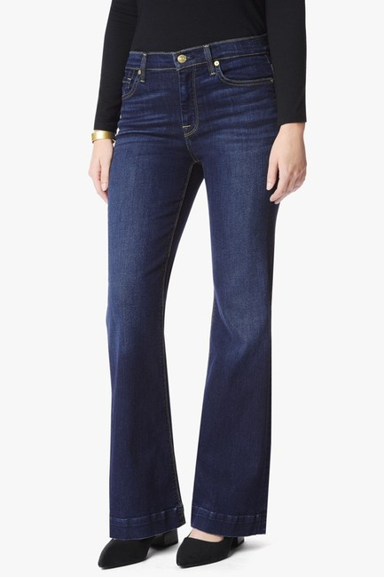 7 For All Mankind Ginger Altered Flare Leg Jeans-Dark Rinse Image 7
