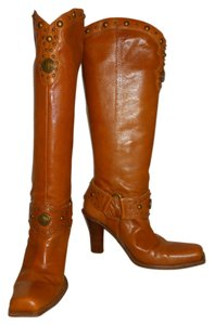 Antonio Melani Leather Studded Hc tan Boots